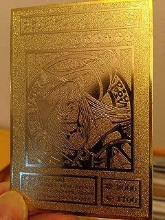 Dark Magician Girl Yugioh Custom Metal Card Limited Collection Golden Card