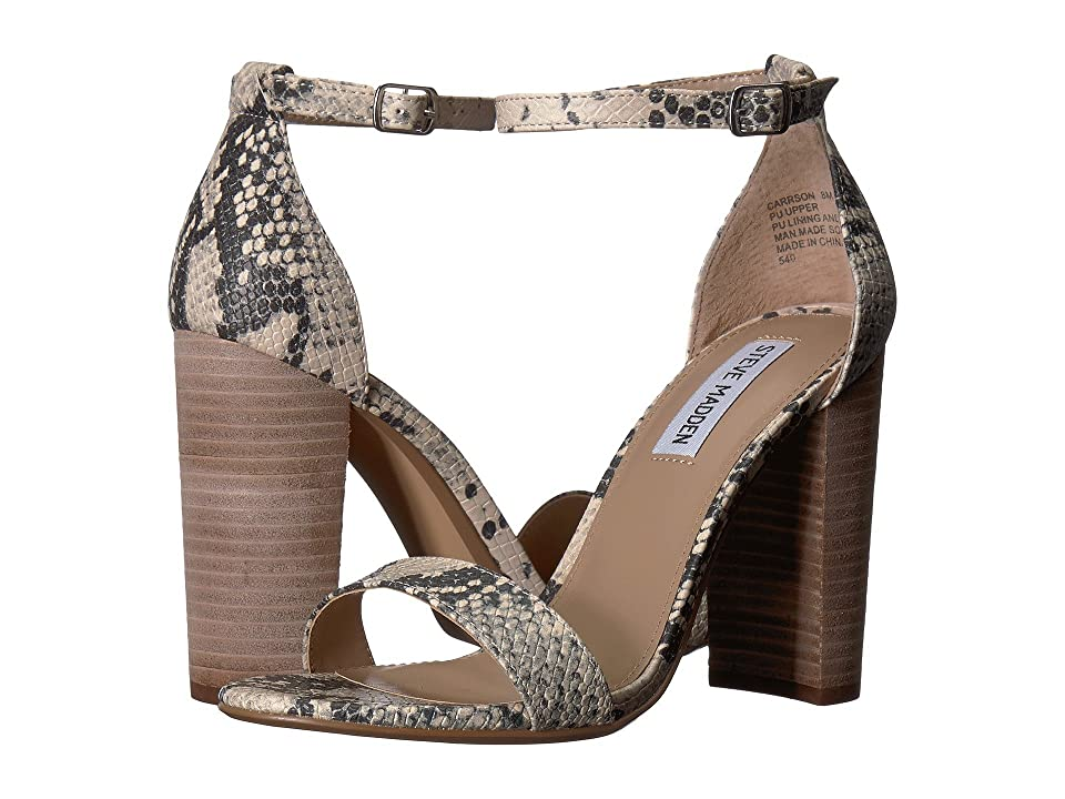 Steve Madden Carrson Heeled Sandal (Grey Snake) High Heels