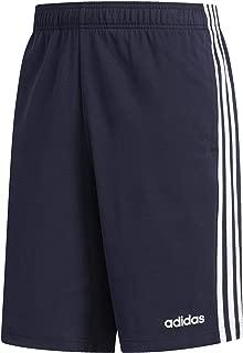 adidas Men's Essentials 3-stripes Single Jersey Shorts, Legend Ink/White, X-Small