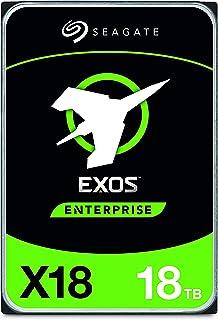 """Seagate Exos X18, 18 To, Disque dur interne d'entreprise HDD, SATA, CMR 3,5"""", Hyperscale SATA 6 Go/s, 7200 TR/Min, 512e, 4..."""