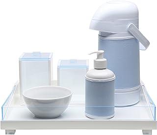 Kit Higiene Clean Acrílico, Potinho de Mel, Azul