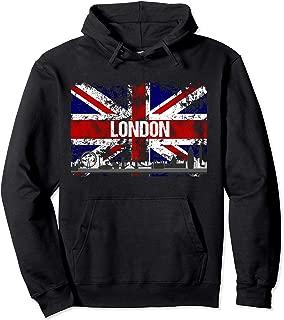 London Skyline Distressed Union Jack Flag Hoodie