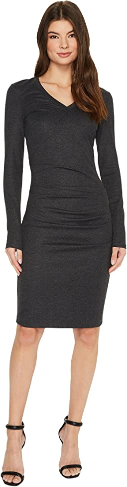 V-Neck Basic Ponte Dress