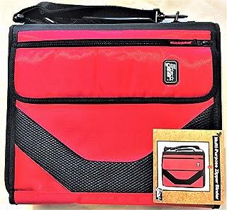 "American Studio Tech Gear Muli-Purpose Zipper Binder 2"" D-Rings - Red/Black"
