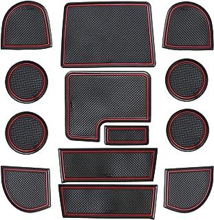 Sporthfish Non-Slip Anti-dust Custom Fit Cup, Door, Console Liner Accessories for Subaru WRX 2015 2016 2017 2018 2019 2020-13 pcs Set (Red)