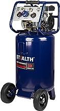 Stealth 20 Gallon Ultra Quiet Air Compressor,1.8 HP Oil-Free Peak 150 PSI 68 Decibel Air..