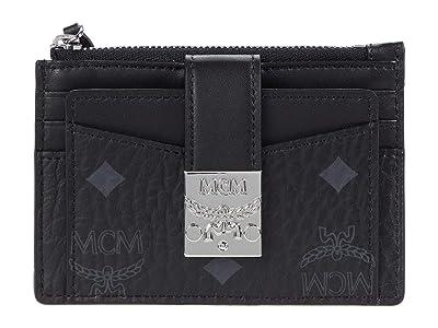 MCM Patricia Visetos Card Case Mini (Black) Handbags