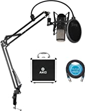 AKG P420 Large-Diaphragm Condenser Microphone for Vocals, Piano, Woodwind, Percussion, and String Instruments Bundle with ...
