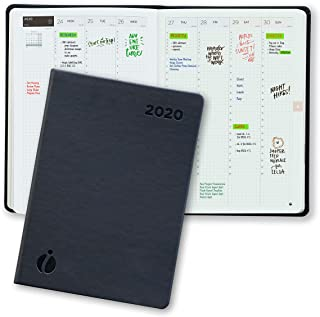 Hourly Planner 2020 – 24 Hour Planner – Weekly and Monthly Appointment Book 2020 – Hardcover, Japanese Design – Minimalist Annual Planner with Time Slots – 6 x 8.5
