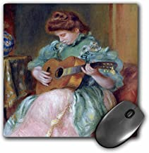 3dRose BLN Music Featured in Fine Art Collection – Femme a la Guitare 1896 by Pierre Auguste Renoir Woman Playing Guitar – MousePad (mp_171351_1)