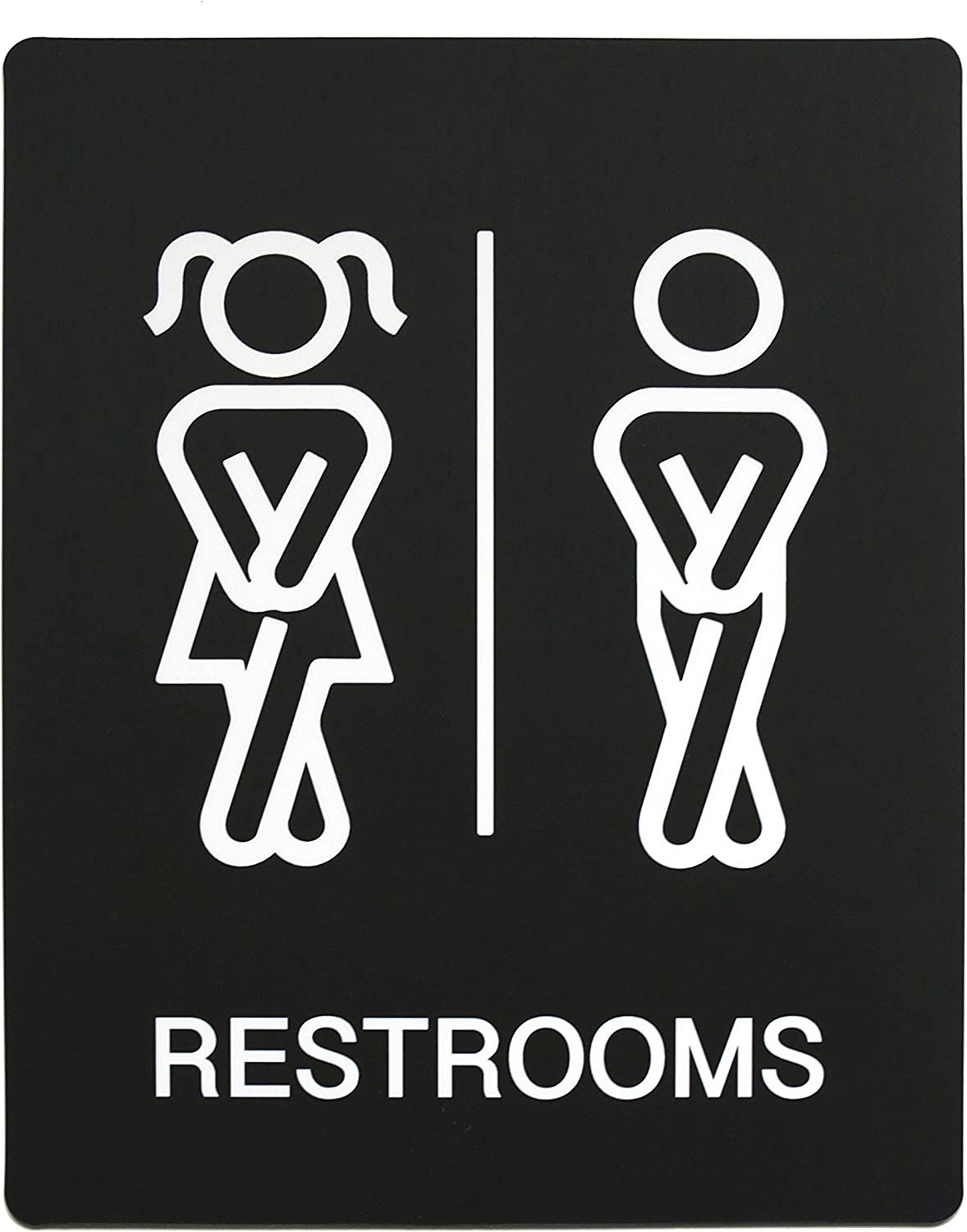 Manufacturer OFFicial shop Funny Both Gender Restrooms Sign We OFFer at cheap prices Sided - Double fo Bathroom