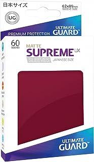Ultimate Guard Supreme Japanese UX Card Sleeves (60 Piece), Matte Burgundy