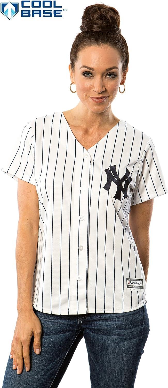 New York Yankees MLB Mujer Cool Base Home Jersey
