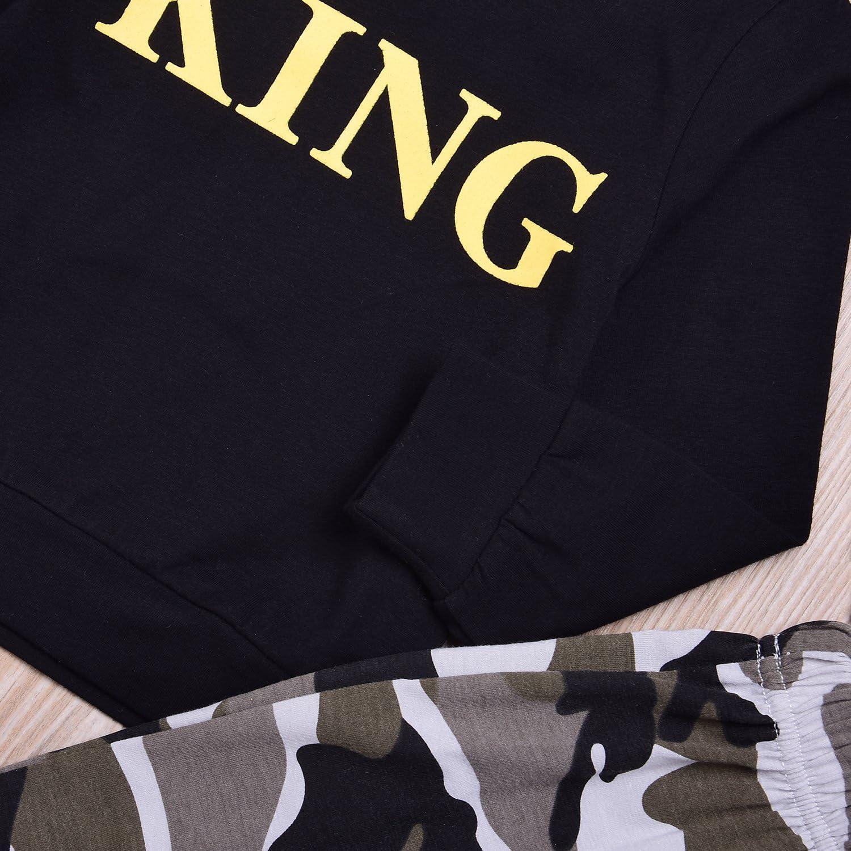 Set completo con maglietta e pantaloncini mimetici per bambino