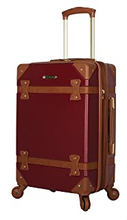 Luggage Carry On Expandable Hardside Suitcase With Spinner Wheels (20in, Burgundy)