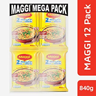 Maggi 2 Minutes Noodles Masala, 70 grams pack (2.46 oz)- 12 pack - Made in India