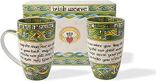 Irish Blessing Cup Set of Two with Matching Irish Gift Box