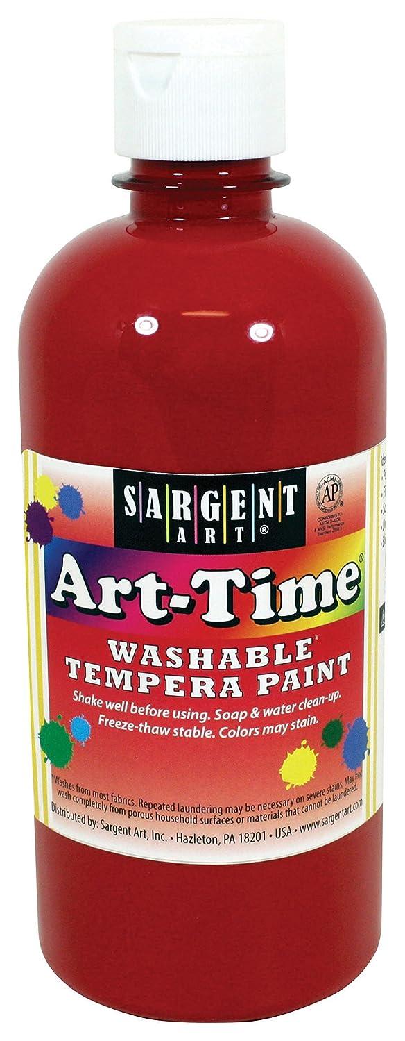Sargent Art 17-3420 16 oz Red Art-Time Washable Tempera Paint