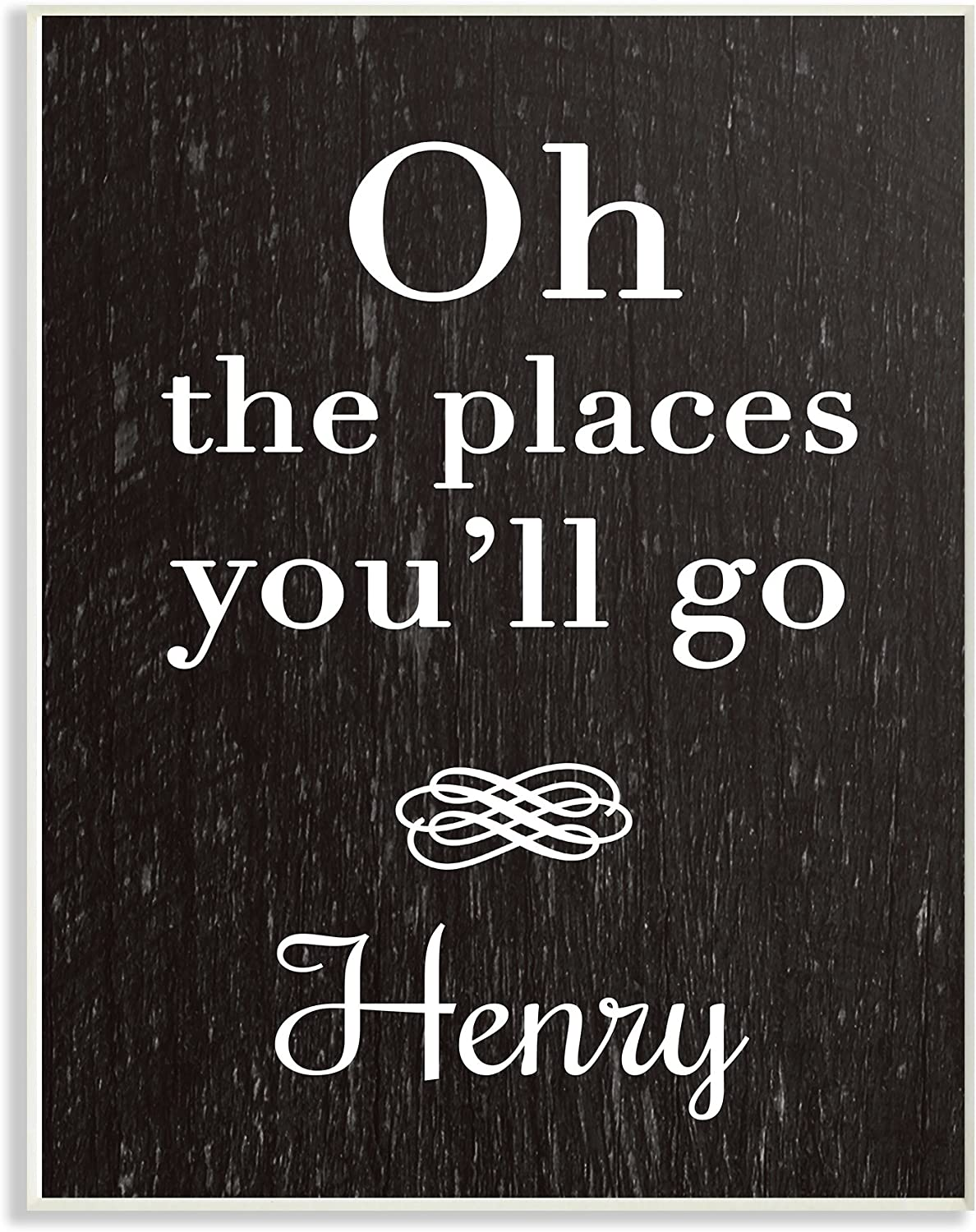 The Kids Room by Stupell Oh The Places You'll Go Personalized Wall Plaque Art, 10 x 0.5 x 15, Proudly Made in USA