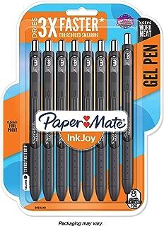 Paper Mate InkJoy Gel Pens, Fine Point, Black, 8 Count