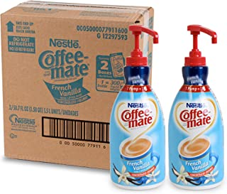 Nestle Coffee-mate Coffee Creamer, French Vanilla,  liquid pump bottle, 50.7 Fl Oz (Pack of 2)
