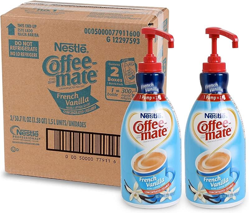 Nestle Coffee Mate Coffee Creamer French Vanilla Liquid Pump Bottle 50 7 Fl Oz Pack Of 2