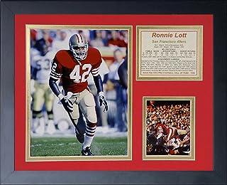 """لوحة Legends Never Die """"Ronnie Lott"""" ذات إطار صورة مجمعة، 11 × 14 بوصة (11432U)"""