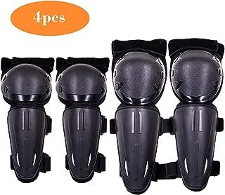 Webetop Kids Knee Pads Elbow Guards 4PC Set (Black) (black)