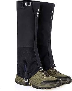 Unigear Polainas Actualizadas 100% Impermeable 1 Par Prueba de Viento Nieve Lluvia Protección para Las Piernas de Espinas, Malezas para Deporte al Aire Libre Montaña Senderismo Caza Esquí Escalada