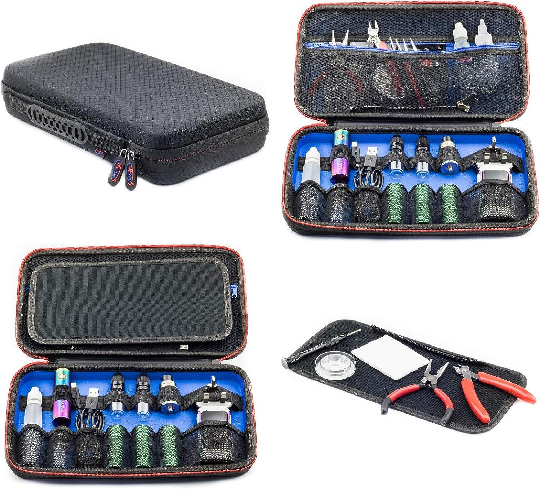 Digicharge Universal Bolsa de Viaje Organizador para electrónica Y Accesorios Bolsa de Transporte Caja con Juego de Bridas para Cable para teléfono móvil, GPS, cámara Digital etc