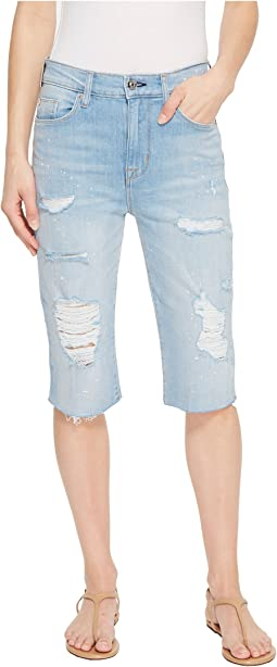 Zoeey High-Rise Cut Off Boyfriend Jean Shorts in Love St.