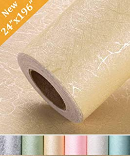 Oxdigi Yellow Contact Paper 24 x 196 inches for Cabinets Countertops Decorative Self Solid Color Adhesive Film Peel and Stick Removable Waterproof Wallpaper Silk