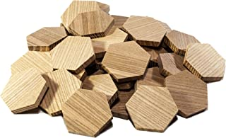 "1.54"" Wood Hexagon Cutout Shapes Unfinished Wood Mosaic Tile - 30 pcs"