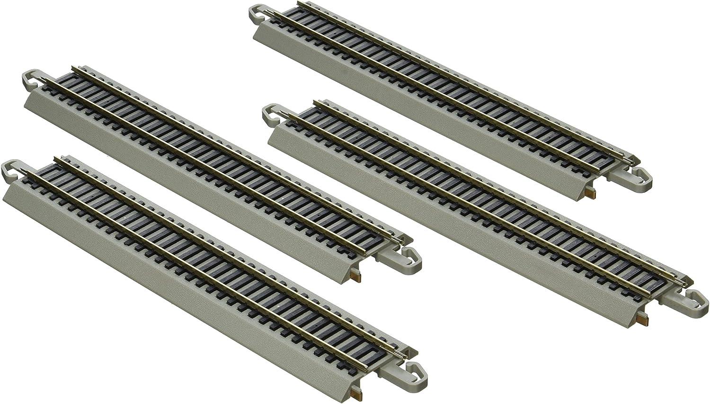 Bachmann Trains SnapFit EZ Track Nickel Silver Reversing 9  Straight Track(4 Card)
