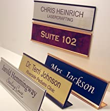 Personalized Office Name Plate With Wall or Desk Holder - 2x8 - CUSTOMIZE