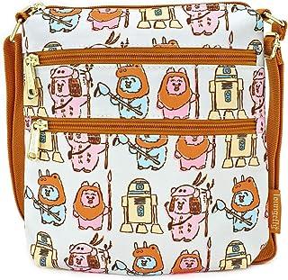 LOUNGEFLY X Star Wars Pastel Ewok AOP Nylon Passport Bag - Everyday Crossbody