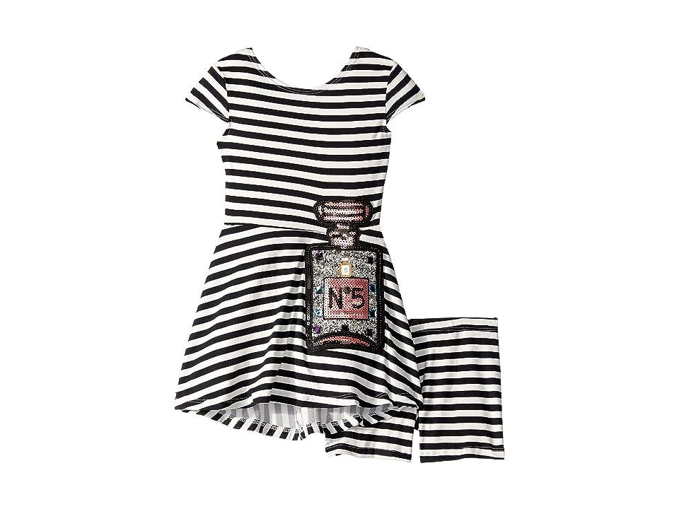 fiveloaves twofish Capri Skater #5 Dress (Toddler/Little Kids) (Black/White) Girl