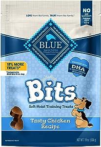 Blue Buffalo Blue Bits Natural Soft-Moist Training Dog Treats, Chicken Recipe 19-oz Bag