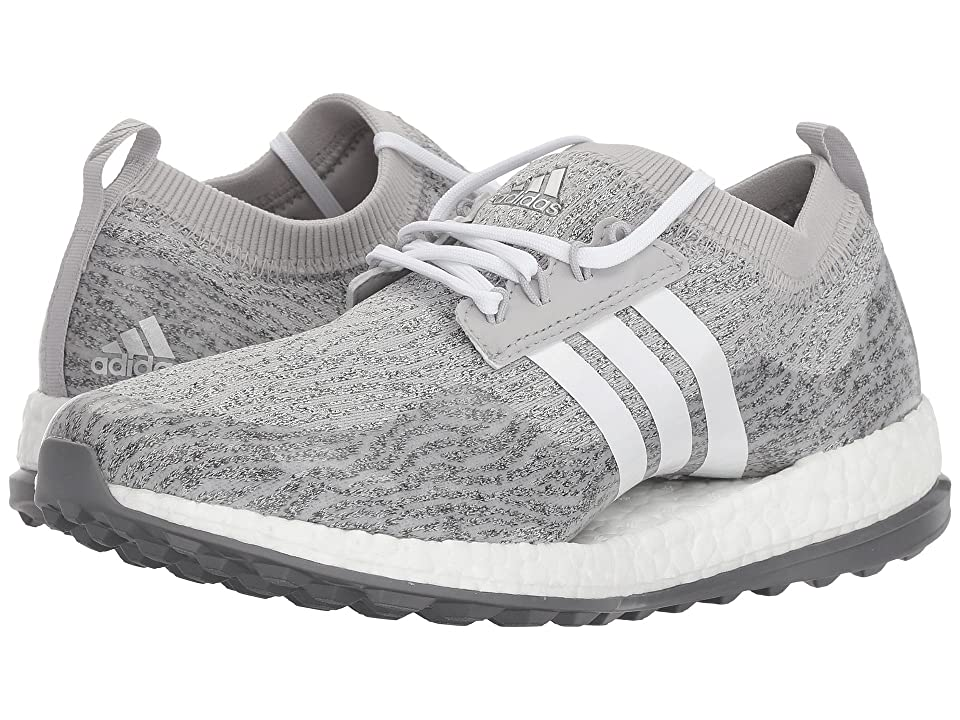 adidas Golf Pure Boost XG (Grey Two/Footwear White/Night Metallic) Women's Golf Shoes, Gray