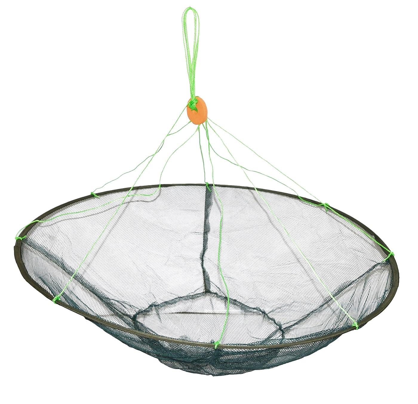 ぜいたく反応する砂魚すくい 魚捕獲 一網打尽  直径1m タモ網 (収納時35cmでコンパクト)小魚?メダカ?ザリガニ?タニシ