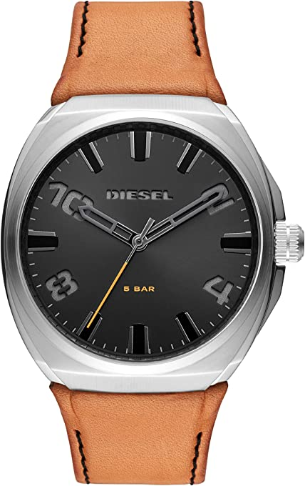 Diesel Men's Quartz Watch analog Display and Leather Strap, DZ1883