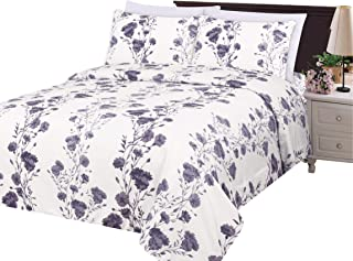 Best white duvet cover with purple flowers Reviews