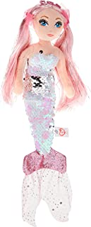 Ty Beanie 02100 CORA Pink Sequin Mermaid REG, Multicolored