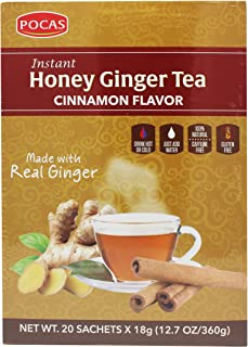 Pocas Honey Ginger Tea, Cinnamon, 12.7 Ounce, 20 Bags (Pack of 2)