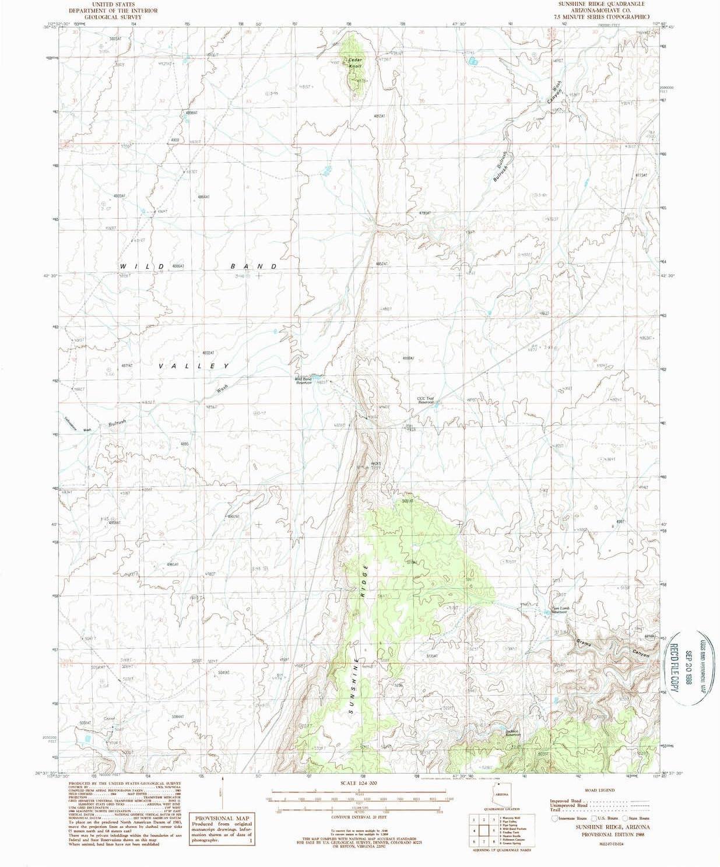 YellowMaps Sunshine Ridge AZ topo 1:24000 X map 7.5 Scale Sale Soldering