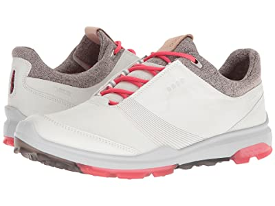 ECCO Golf Biom Hybrid 3 GTX (White/Teaberry) Women