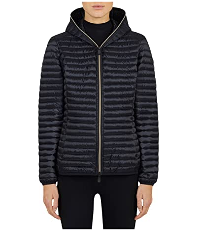 Save the Duck Iris Hooded Jacket (Black) Women