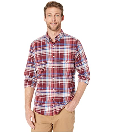Nautica Casual Plaid Woven (Zinfandel) Men