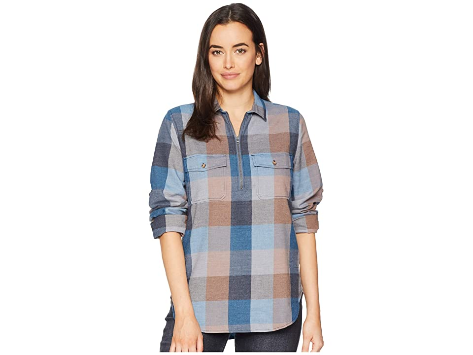 Woolrich Any Point Convertible Flannel Shirt (Mountain Blue Multi) Women