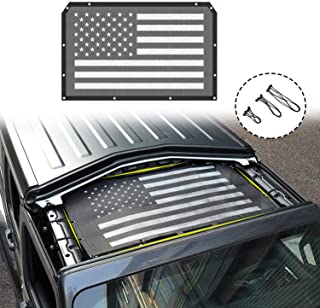 American Flag Sun Shade Mesh Bikini Top Sunshade UV Protection for 2018 2019 Jeep Wrangler JL JLU 2 Door